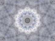 Mandalas Digital Art - Icy Mandala 5 by Rhonda Barrett