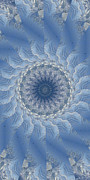 Mandalas Digital Art - Icy Mandala 6 by Rhonda Barrett