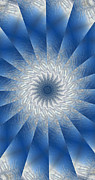 Unity Digital Art Posters - Icy Mandala 7 Poster by Rhonda Barrett