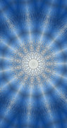 Unity Digital Art Posters - Icy Mandala 8 Poster by Rhonda Barrett