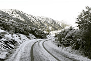 Snowy Mountain Photos - Icy Road by Linde Townsend