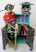 Metal Assemblage Sculpture Posters - Id Give My Right Arm For You Poster by Keri Joy Colestock