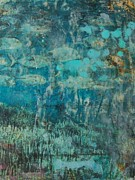 Under The Ocean Prints - Id like to be under the green sea Print by Fiona Finlay