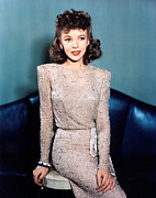 Shoulder Pads Posters - Ida Lupino, 1940s Poster by Everett