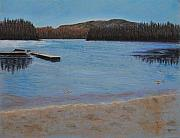 British Columbia Pastels - Idabel Lake by Marina Garrison
