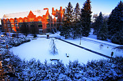 Snow Picture Prints - Idaho Administration building Print by University of Idaho Photographic Services