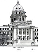 Capitol Mixed Media - Idaho State Capitol Building by Frederic Kohli