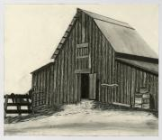 Old Barns Drawings Posters - Idaho Warmth Poster by Bryan Baumeister