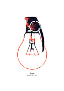 Minimalist Digital Art - Idea is a powerful weapon by Budi Satria Kwan
