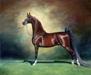 Saddlebred Posters - Ideal Proportions Poster by Jeanne Newton Schoborg