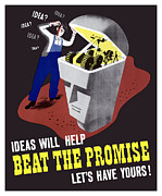 Worker Mixed Media Posters - Ideas Will Help Beat The Promise Poster by War Is Hell Store