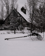 Snow Landscapes Metal Prints - Idle Time - Waiting For Spring Metal Print by Steven Milner