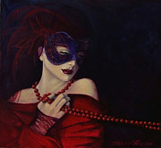 Red Art Posters - Idyll Poster by Dorina  Costras