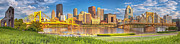 Downtown Pittsburgh Posters - Idyllic Afternoon Poster by Jennifer Grover