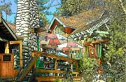 Idyllwild Framed Prints - Idyllwild - Cafe Aroma Framed Print by Lisa Dunn