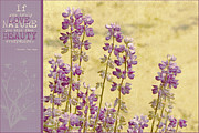 Textured Floral Mixed Media Framed Prints - If Framed Print by Bonnie Bruno