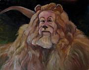 Cowardly Lion Posters - If I   If I   Were King Poster by Wendie Thompson