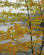 New Hampshire Fall Foliage Prints - If I Could Paint No. 2 - New England Fall landscape Print by Jon Holiday
