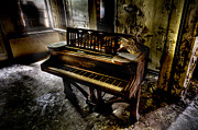 Abandoned  Pyrography - If Music be the Food of Love.... by Steven Coppenbarger