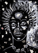 African American Art Prints - If Only For One Nite Print by Larry Poncho Brown