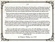 Graduation Mixed Media Posters - IF Poem by Rudyard Kipling Poster by Claudette Armstrong