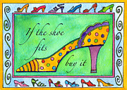 Corwin Paintings - If the Shoe Fits Buy it by Pamela  Corwin