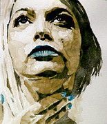 Watercolor Portrait. Prints - If theres a big guy up there Print by Paul Lovering