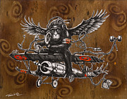 Chimpanzee Prints - If You Want to Fly Let Go of the Things Weighing You Down Print by Iosua Tai Taeoalii