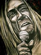 Roll Pastels Framed Prints - Iggy Pop Framed Print by Zach Zwagil