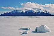 Wolken Metal Prints - Igloo on Atlin Lake - BC Metal Print by Juergen Weiss