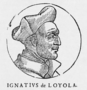 Church Founder Framed Prints - Ignatius Of Loyola, Founder Of Jesuits Framed Print by Middle Temple Library