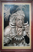 Old Man Pyrography Originals - Igorot Shaman by Jordan Mang-osan