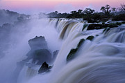 Power Plants Posters - Iguacu Falls Poster by BrazilPhotos Prints