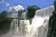Argentina Framed Prints - Iguazu Falls Framed Print by David Gardener