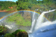 Rainbow River Photos - Iguazu Rainbow by Bruce J Robinson