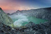 Volcanic Framed Prints - Ijen Crater Framed Print by Alexey Galyzin