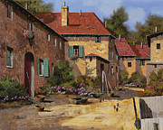 Courtyard Art - Il Carretto by Guido Borelli