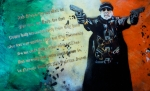 Rock Art Mixed Media - IL DUCE No. 2 by Christopher  Chouinard