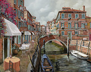 Table Framed Prints - Il Fosso Ombroso Framed Print by Guido Borelli