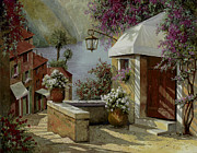 Lamp Framed Prints - Il Lampione Oltre La Tenda Framed Print by Guido Borelli