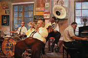Jazz Band Prints - Il Quintetto Print by Guido Borelli