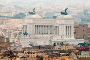 Townhouses Prints - Il Vittoriano Print by Andy Smy