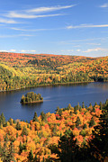 Automne Framed Prints - Ile aux Pins La Mauricie National Park Framed Print by Pierre Leclerc