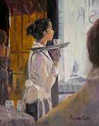 Whites Paintings - Ill Be Right With You by Lori Quarton