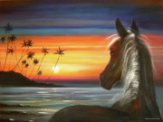 Sunsets Original Paintings - Ill Be There by Gina De Gorna