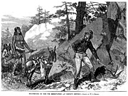 Indian Territory Prints - Illegal Prospecting, 1879 Print by Granger
