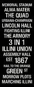 Fighting Posters - Illinois College Town Wall Art Poster by Replay Photos