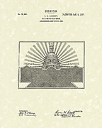 Antique Drawings - Illuminated Sign Design 1907 Patent Art by Prior Art Design