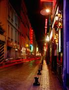 Parisian Streets Posters - Illuminated Street At Night Poster by Axiom Photographic