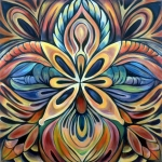 Flower Paintings - Illumination by Shadia Zayed